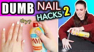 Download Testing Dumb Nail Hacks #2 (SimplyNailogical suffering) Video