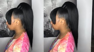Download Turning 10 inch into 20 inch high ponytail w/ bang 🌟 Video
