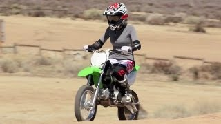 Download Crashing Kawasaki KLX 140 Motorcycles and Off-Road Riding - The J-Turn Episode 5 Video