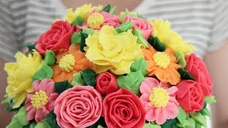 Download Pretty Cake Compilation - Piping and Flowers Video