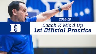 Download Coach K Mic'd Up: 1st Practice 2018-19 Video
