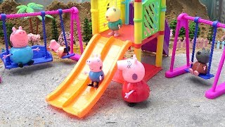 Download Peppa Pig Family FUN OUTDOOR PLAYGROUND Toys for Children Video