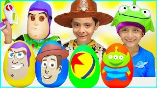Download New Toy Story Play-Doh Surprise Eggs Kids Toys Disney Pixar Buzz Lightyear Woody Rex Movie Trailer Video
