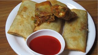 Download Veg Spring Rolls - Vegetables Spring Rolls with Homemade Sheets - Easy & Quick Snack Recipe Video