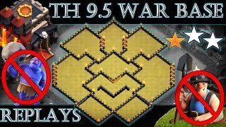 Download TH 9.5 (TOWN HALL 10 WITHOUT INFERNOS) ANTI 2 STARS WAR BASE | REPLAY PROOF | CLASH OF CLANS Video