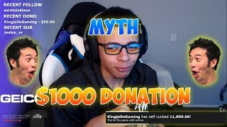 Download TheMyth Gets Donated $1000 And Duos With Him! Video