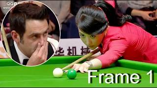 Download frame 1, ronnie won pan xiaoting ( china girl ) 6 red snooker special match Video