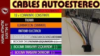 Download COLORES DE CABLES DEL AUTOESTEREO significado y tips Video