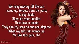 Download DJ Snake - Taki Taki (Lyrics) ft. Selena Gomez, Ozuna, Cardi B Video