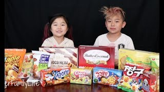 Download AMERICAN KIDS TRY KOREAN SNACKS Video