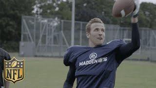 Download Tottenham Soccer Star Harry Kane Shows Off His American Football Skills   Madden 16   NFL Video