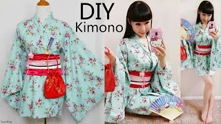 Download DIY Easy Kimono/Yukata with Easy Pattern | DIY Cosplay Costume | Designed by me Video
