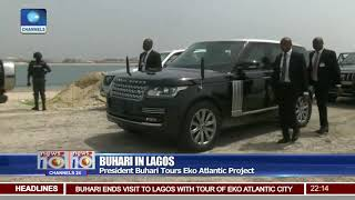 Download President Buhari In Lagos Tours Eko Atlantic Project Video