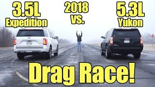 Download 2018 Ford Expedition vs GMC Yukon Drag Race! Compare these SUV's with a Kunes Country Prize Fight! Video