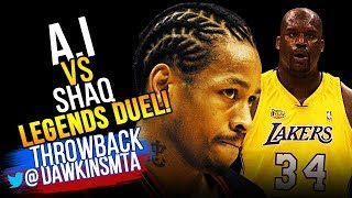 Download Allen Iverson vs Shaquille O'Neal LEGENDS Duel 2001 Finals G1 - Sha'q with 44 Pts, A.I With 48 Pts! Video
