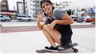 Download Awesome Longboarding Girl Does Skateboard Dancing Video