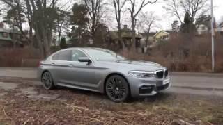 Download [4k] G30 BMW 540i X-Drive EXTERIOR view LIGHTS OFF, colour is Bluestone metallic Video