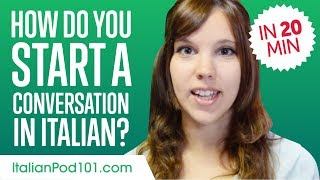 Download Don't Be Shy! How to Start a Conversation in Italian - Learn Italian in 20 Minutes! Video