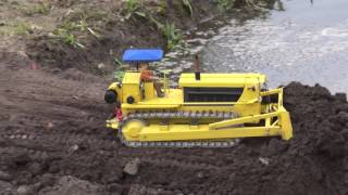 Download Bridge construction site through water Video