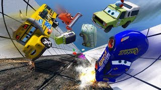 Download Crash Cars Fabulous McQueen Miss Fritter Todd Pizza Miles Axlerod and Friends Video for Kids Video