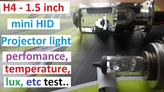 Download H4 1.5 inch Mini projector Headlight bulb tired and tested. Video