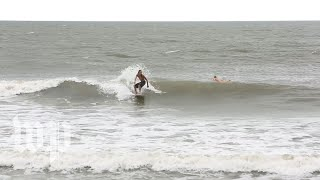 Download On this South Carolina beach, one last day of surfing as Hurricane Florence looms Video