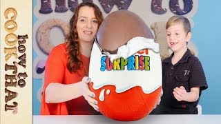 Download GIANT KINDER & opening 20-YEAR-OLD Kinder Surprise Eggs! How To Cook That Video