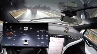 Download Tesla Model X - Using Autopilot in the Rain Video