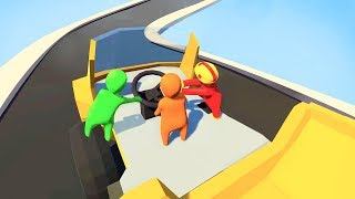 Download IMPOSSIBLE TRUCK DRIVING WITH FRIENDS! (Human Fall Flat Episode #3) Video
