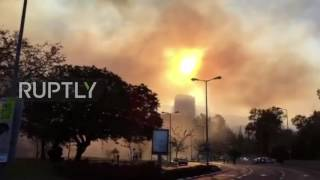 Download Israel: Wildfires rip through Haifa, over 50,000 evacuated from homes Video