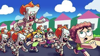 Download Minecraft | PENNYWISE CREATES A HORDE OF CLOWNS! (IT Army vs Kid Army) Video