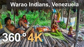 Download Warao Indians. Orinoco Delta, Venezuela. Aerial 360 video in 4K Video