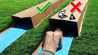 Download TRY NOT TO Slip 'N Slide Through the Wrong MYSTERY BOX!! Video