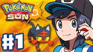 Download Pokemon Sun and Moon - Gameplay Walkthrough Part 1 - Alola Intro and Litten Starter! (Nintendo 3DS) Video
