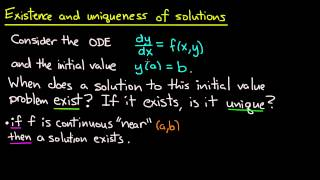 Download ODE | Existence and uniqueness idea Video