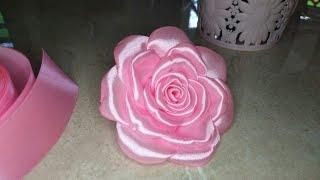 Download DIY || Tutorial membuat bunga mawar dari pita satin Video