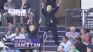 Download Hillary Clinton & Donald Trump Dance To ″Juju On That Beat″ At Hornets Game Video