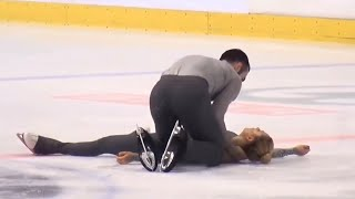 Download *Scary Fall - Please Beware* - Ashley CAIN / Timothy LEDUC, GOLDEN SPIN ZAGREB PAIRS FS Dec. 7, 2018 Video