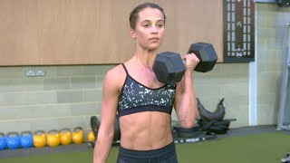 Download How Alicia Vikander Put on 12 Lbs. of Muscle to Play Lara Croft in 'Tomb Raider' Video