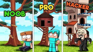 Download Minecraft - TREE HOUSE CHALLENGE! (NOOB vs PRO vs HACKER) Video
