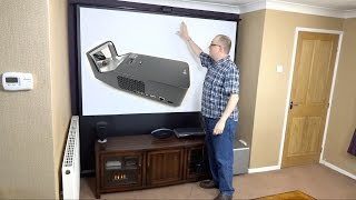 Download Assembling my Hidden Home Cinema with the LG PF1000U Minibeam Ultra Short Throw Projector (REVIEW) Video
