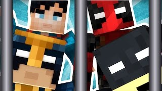 Download MINECRAFT SUPERHEROES GO TO JAIL! - COPS AND ROBBERS WITH JEROMEASF! (Modded Minecraft) Video