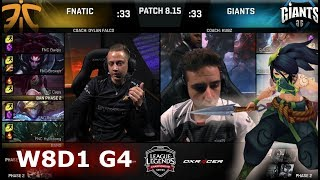 Download Fnatic (w/ Rekkles) vs Giants | Week 8 Day 1 S8 EU LCS Summer 2018 | FNC vs GIA W8D1 Video