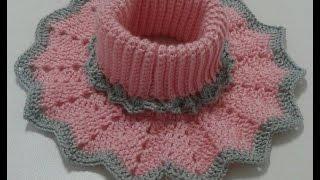 Download cuello niña todas las tallas a crochet Video