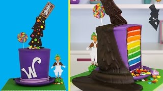 Download WONKA ILLUSION CAKE - The ULTIMATE Gravity Defying Willy Wonka Candy Cake Video