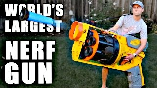 Download World's LARGEST NERF GUN!! Video