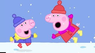 Download Peppa Pig English Episodes in 4K | Snow Fun! Peppa Pig Official Video