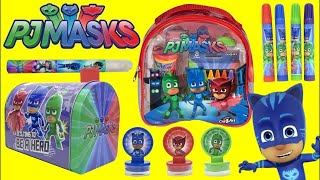 Download PJ MASKS Stamp, Stickers and Play Activity for Kids with Superheroes CATBOY, OWLETTE & GEKKO Video