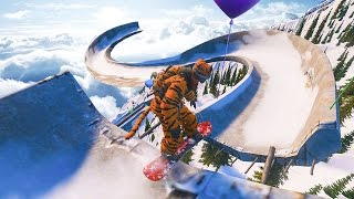 Download SNOWBOARDING A BOBSLED TRACK! - STEEP GAMEPLAY Video