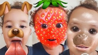 Download Baby Surprises Herself! Baby reacts to Snapchat Video